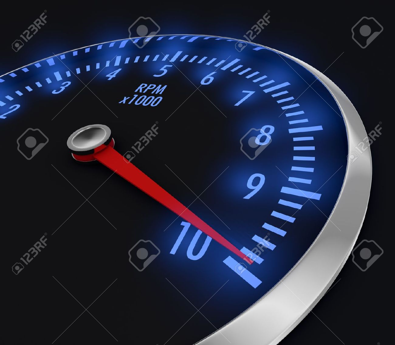 17235265-speedometer-with-rpm-with-needle-near-the-max-3d