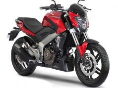 Bajaj Dominar In Gloss Red Shade