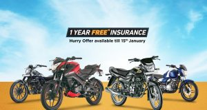 Bajaj Offers 1 Year Free Insurance
