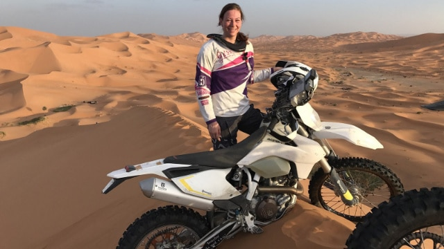 Gabriela Dakar Rally motorcycle diaries