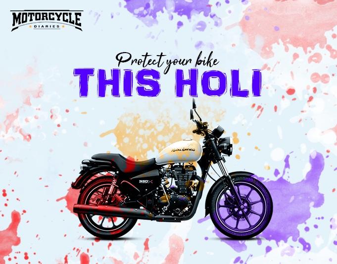 protect bike during holi motorcyclediaries