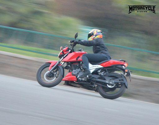 tvs apache 160 handling motorcyclediaries