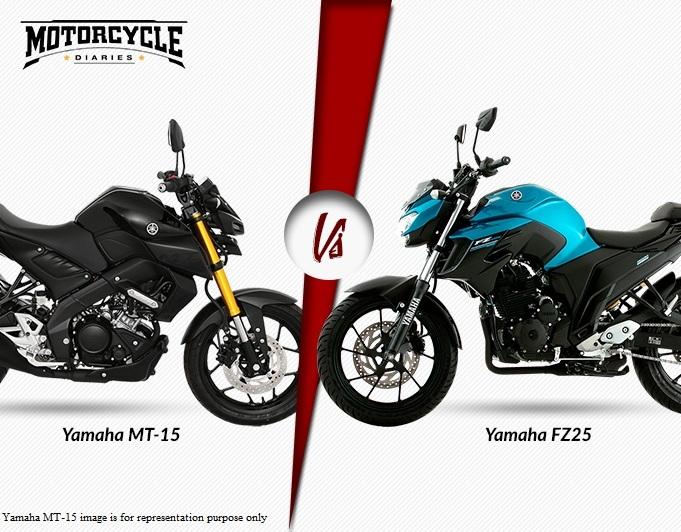 Yamaha MT 15 Facebook: Sibling Rivalry! Yamaha MT 15 Vs Yamaha FZ25 ABS
