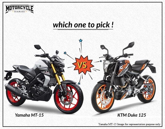mt 15 vs duke 125 motorcyclediaries
