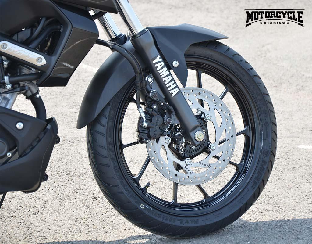 yamaha mt15 front tyre motorcyclediaries