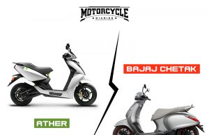 Bajaj Chetak vs Ather 450 Motorcyclediaries